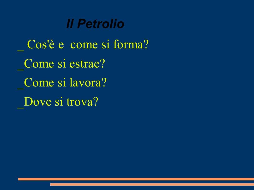 Il Petrolio _ Cos'è e come si forma? _Come si estrae? _Come si lavora? _Dove si trova?