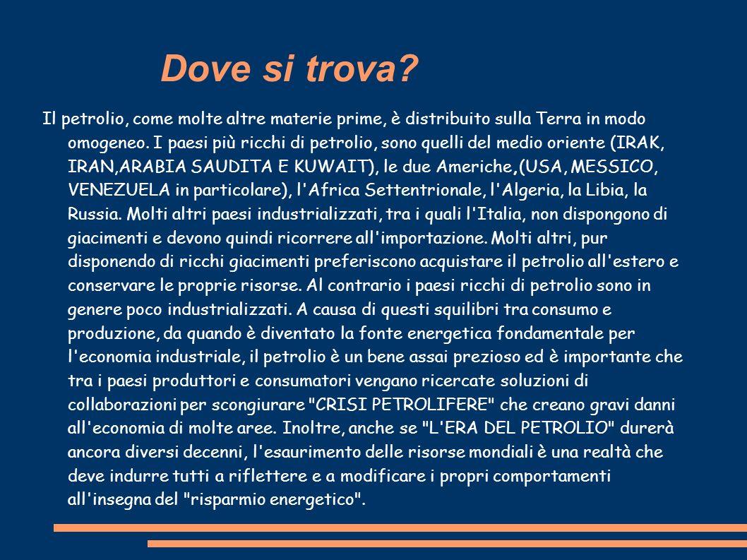 Approfondimento Di Diletta Rossetti 3c Il petrolio Fonti: http://www.pavonerisorse.it/scuole_circolo/cosa_stu diamo/energia/petrolio.htm
