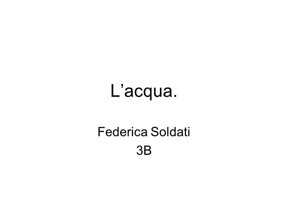 Lacqua. Federica Soldati 3B