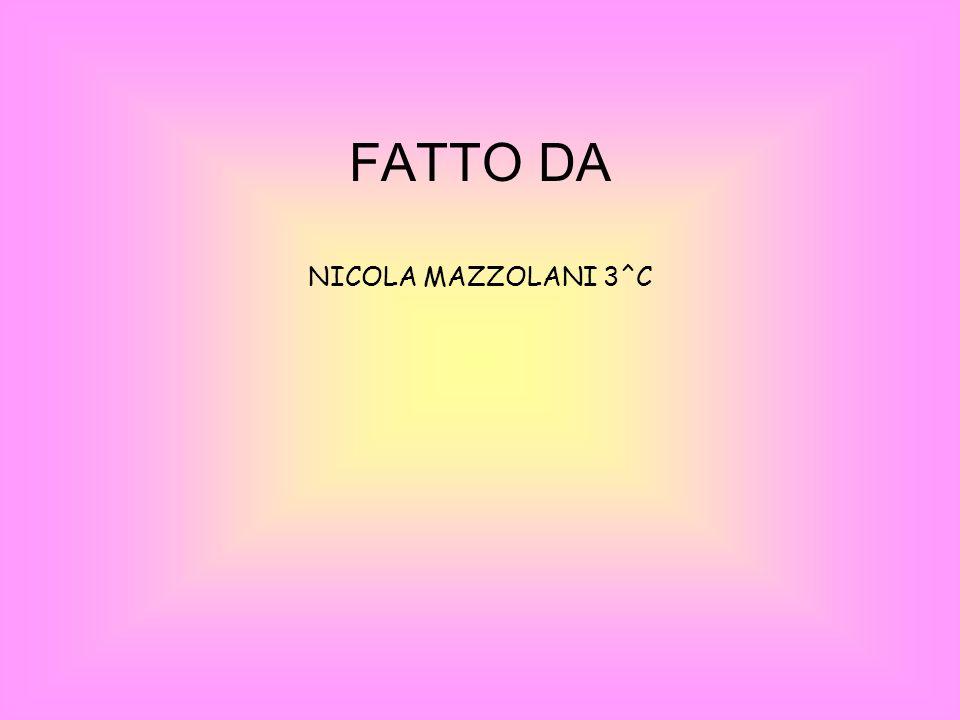 FATTO DA NICOLA MAZZOLANI 3^C