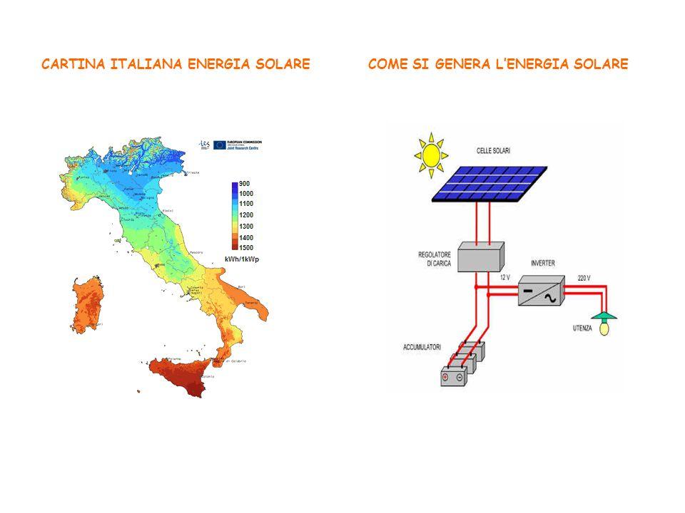 CARTINA ITALIANA ENERGIA SOLARE COME SI GENERA LENERGIA SOLARE