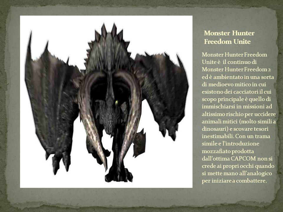 Monster Hunter Freedom Unite è il continuo di Monster Hunter Freedom 2 ed è ambientato in una sorta di medioevo mitico in cui esistono dei cacciatori