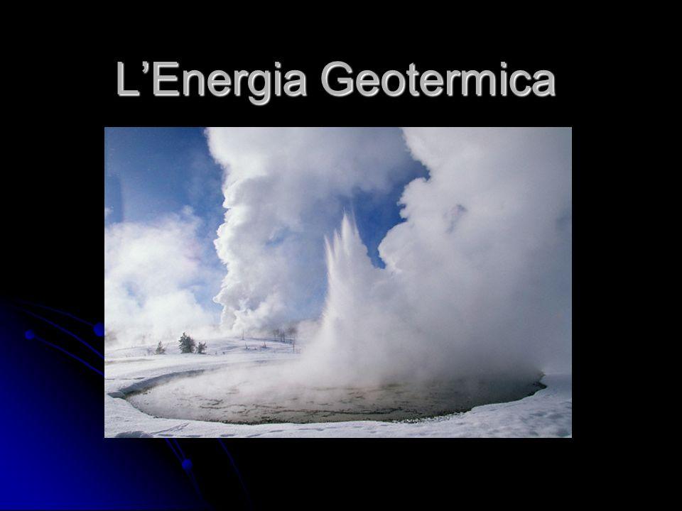 Che cosè.E Lenergia geotermica è lenergia che si trova nel sottosuolo sotto forma di calore.