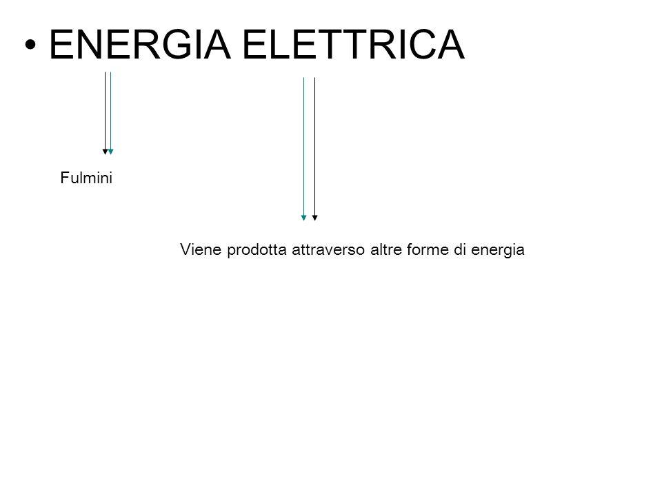 ENERGIA ELETTRICA Fulmini Viene prodotta attraverso altre forme di energia