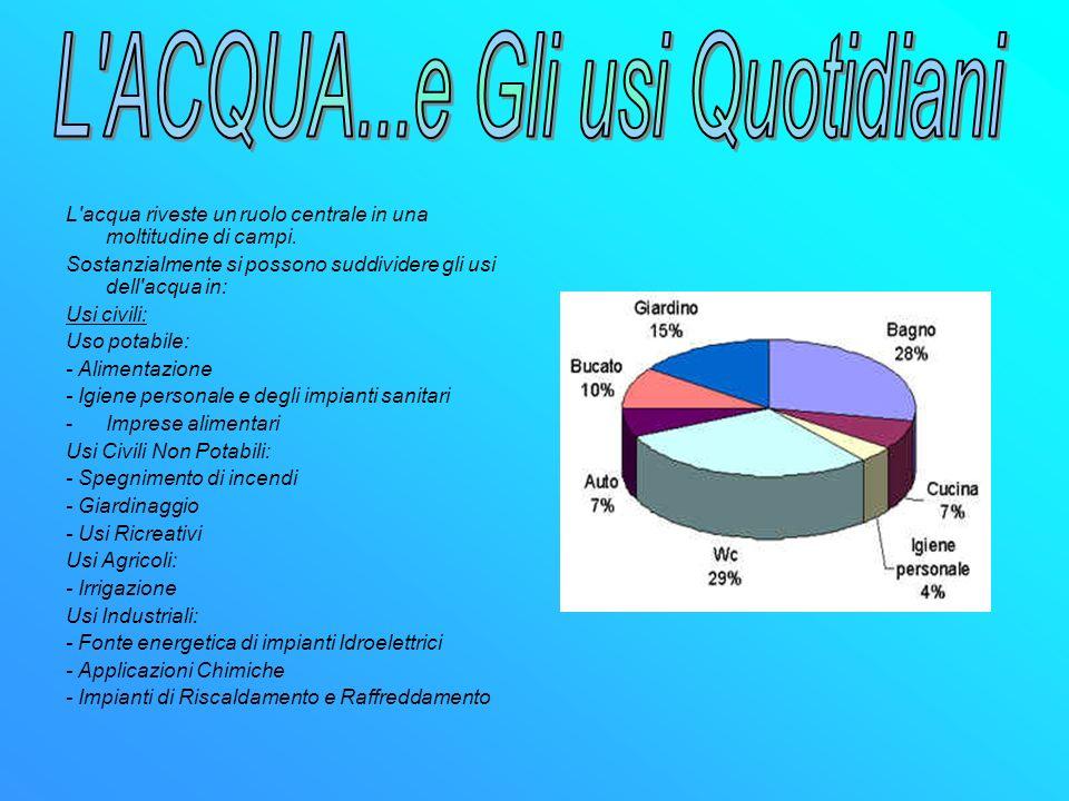 FONTI: www.wikipedia.com www.acquabenecomune.org
