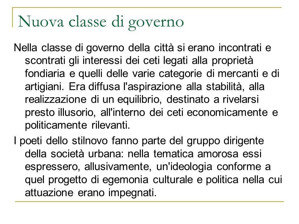 Nuova classe di governo Nella classe di governo della città si erano incontrati e scontrati gli interessi dei ceti legati alla proprietà fondiaria e q