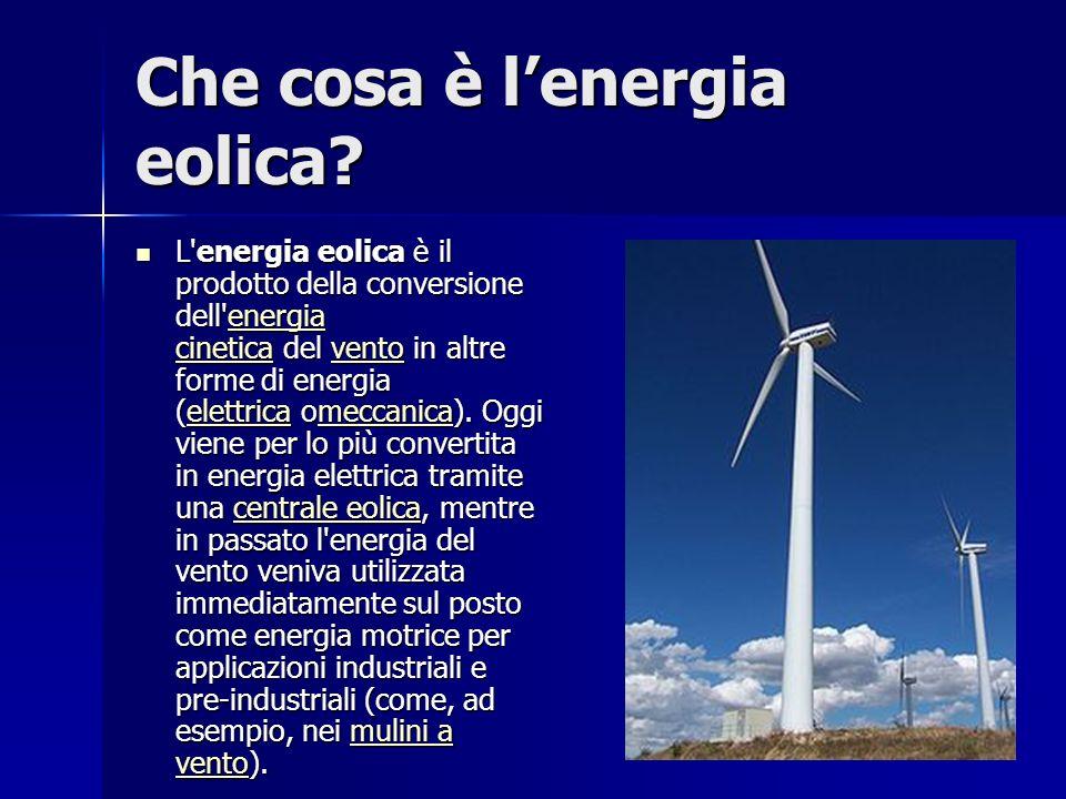 Che cosa è lenergia eolica.