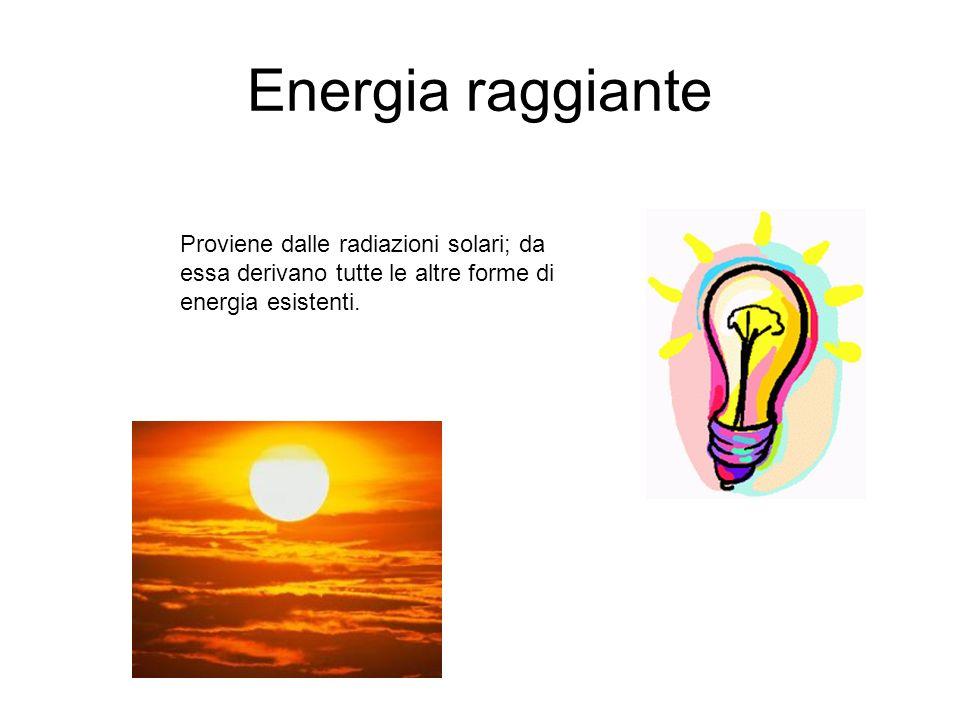 Energia cinetica Si manifesta con il movimento che un corpo può acquistare per diverse cause, naturali o provocate intenzionalmente.