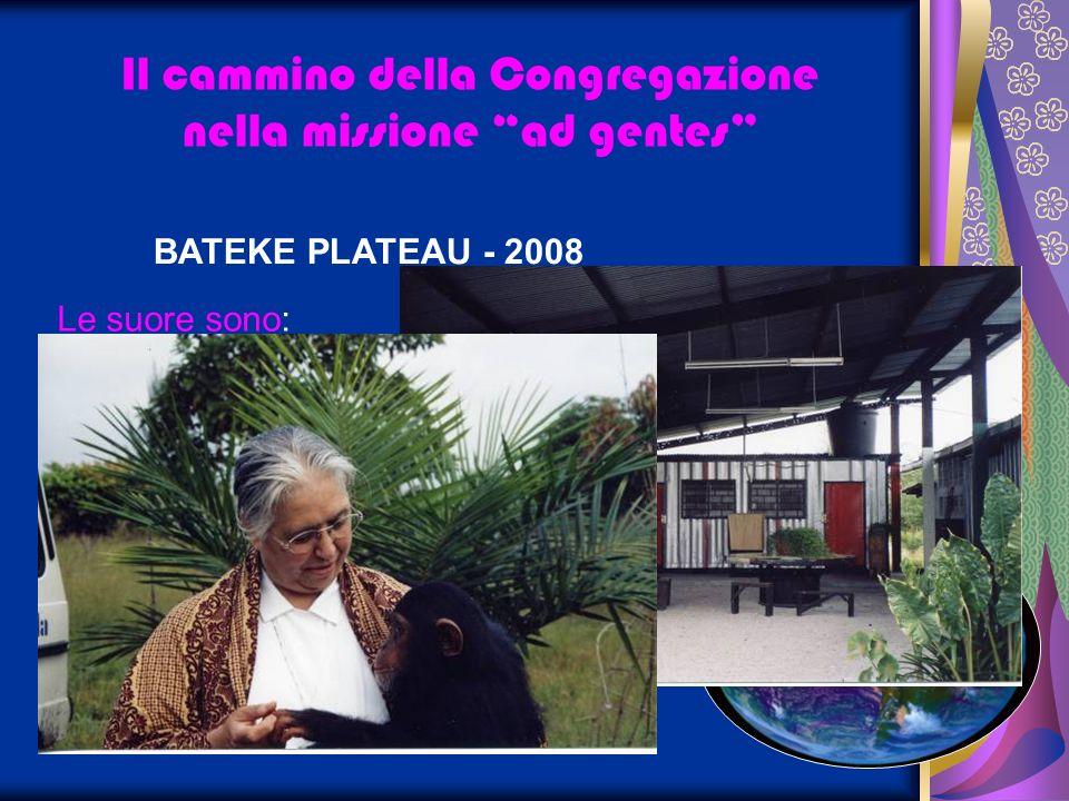 BATEKE PLATEAU - 2008 Il cammino della Congregazione nella missione ad gentes Le suore sono: sr Adolphine Kitensi sr Antoinette Boto