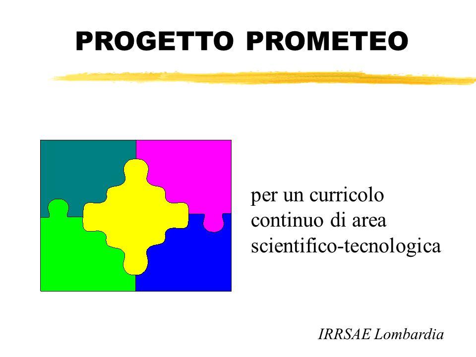 PROGETTO PROMETEO per un curricolo continuo di area scientifico-tecnologica IRRSAE Lombardia