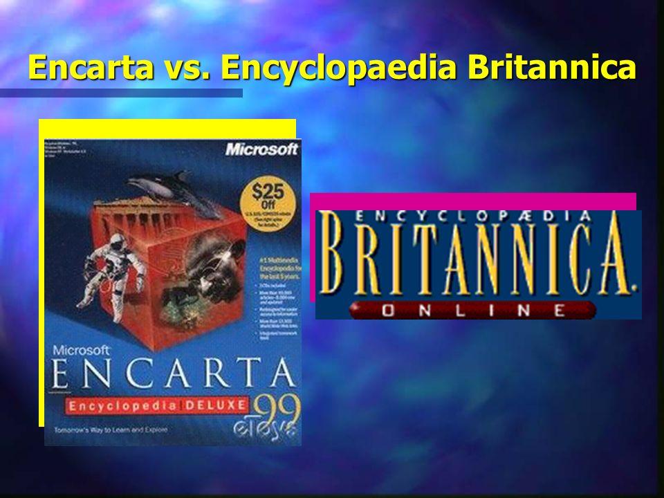 Encarta vs. Encyclopaedia Britannica