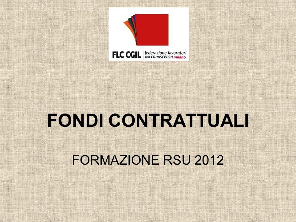 FONDI CONTRATTUALI FORMAZIONE RSU 2012