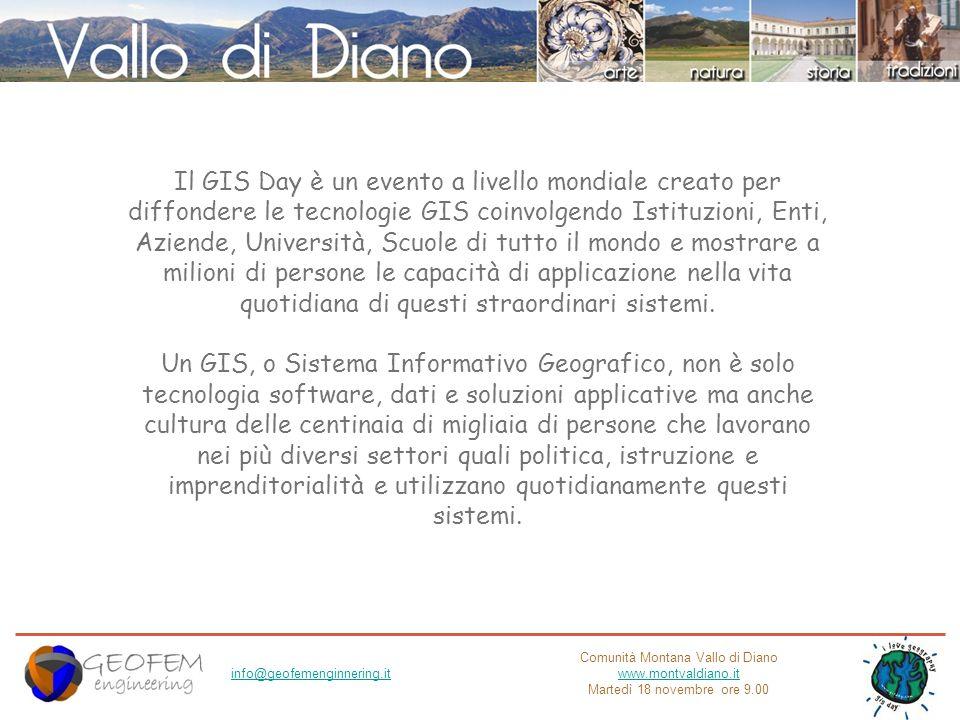 Comunità Montana Vallo di Diano www.montvaldiano.it Martedì 18 novembre ore 9.00 info@geofemenginnering.it Mappa