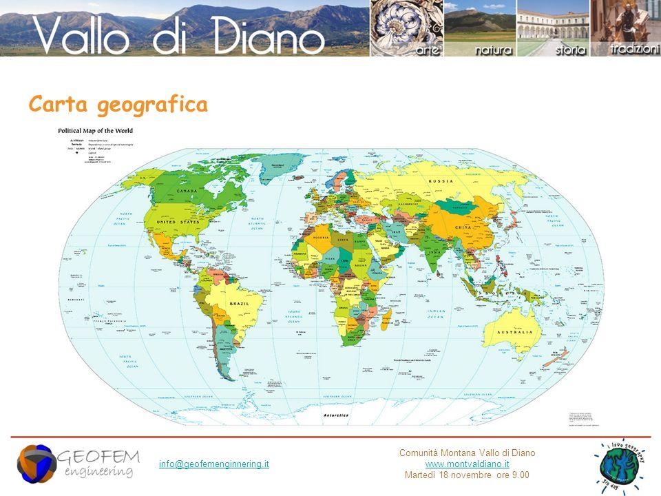 Comunità Montana Vallo di Diano www.montvaldiano.it Martedì 18 novembre ore 9.00 info@geofemenginnering.it Carta geografica