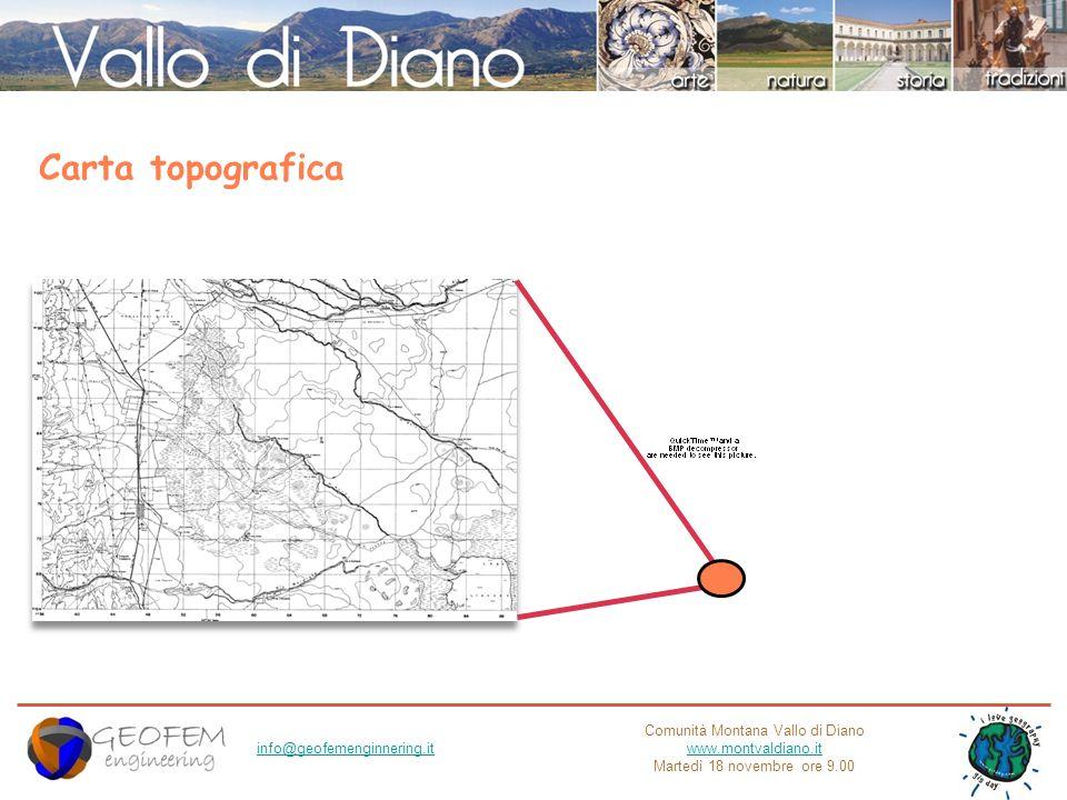 Comunità Montana Vallo di Diano www.montvaldiano.it Martedì 18 novembre ore 9.00 info@geofemenginnering.it Carta topografica