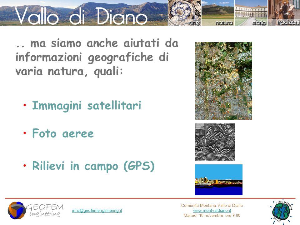 Comunità Montana Vallo di Diano www.montvaldiano.it Martedì 18 novembre ore 9.00 info@geofemenginnering.it Cosè una Mappa.