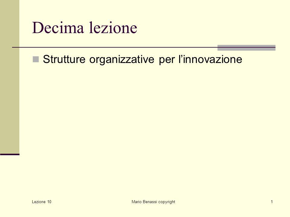 Lezione 10 Mario Benassi copyright2 Introduzione 1.