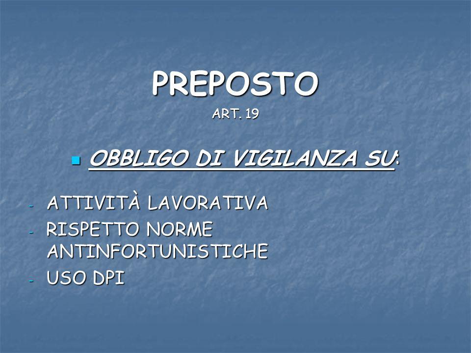 PREPOSTO ART.