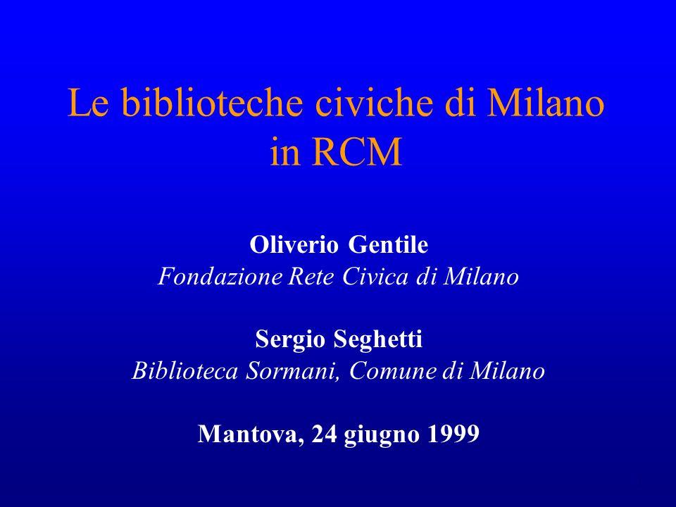 2 biblioteche in RCM: quando e come.
