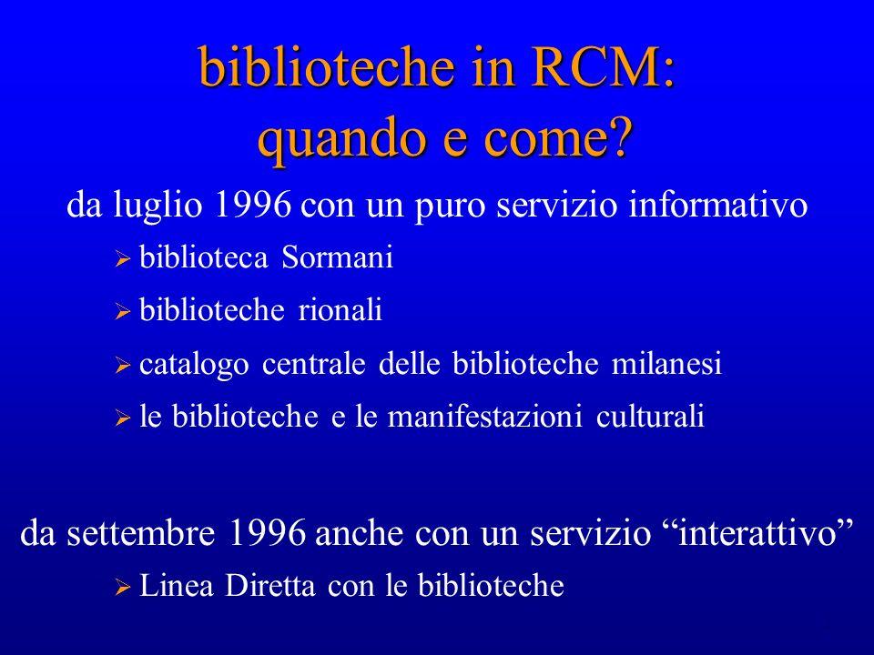 13 Avvio di nuovi servizi: la biblioteca digitale avvio di una biblioteca elettronica che vede per il momento la presenza di due testi (il De Bibliotheca, di U.