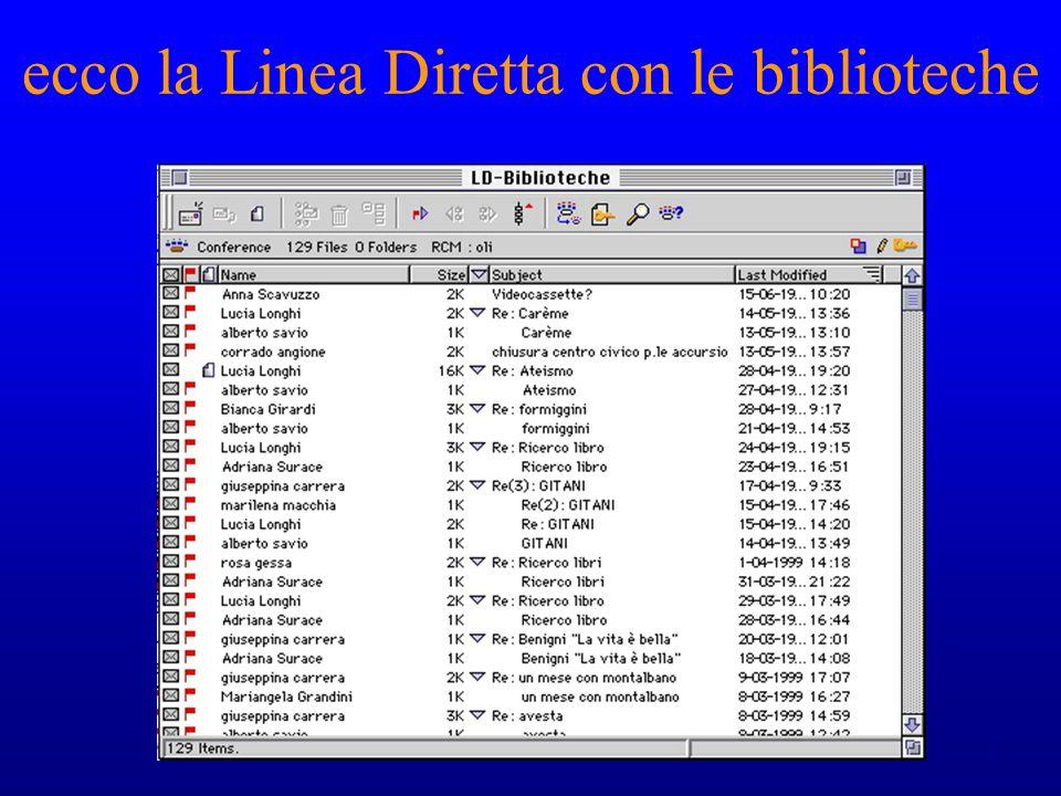 6 Linea Diretta con le biblioteche: perché.