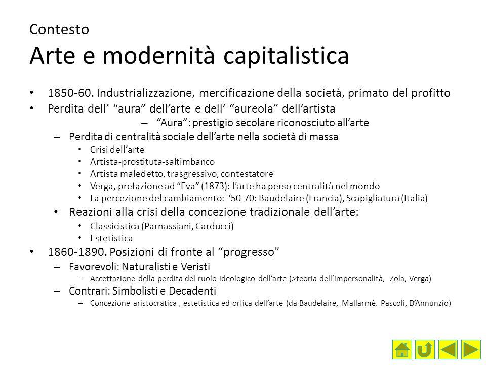 Contesto Arte e modernità capitalistica 1850-60.