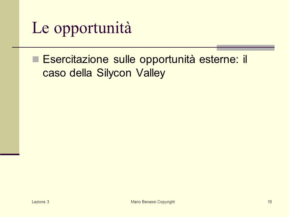 Lezione 3 Mario Benassi Copyright11 I risultati: silicon vs route 128 (occupati per settore) settore195919751992 attrezz.