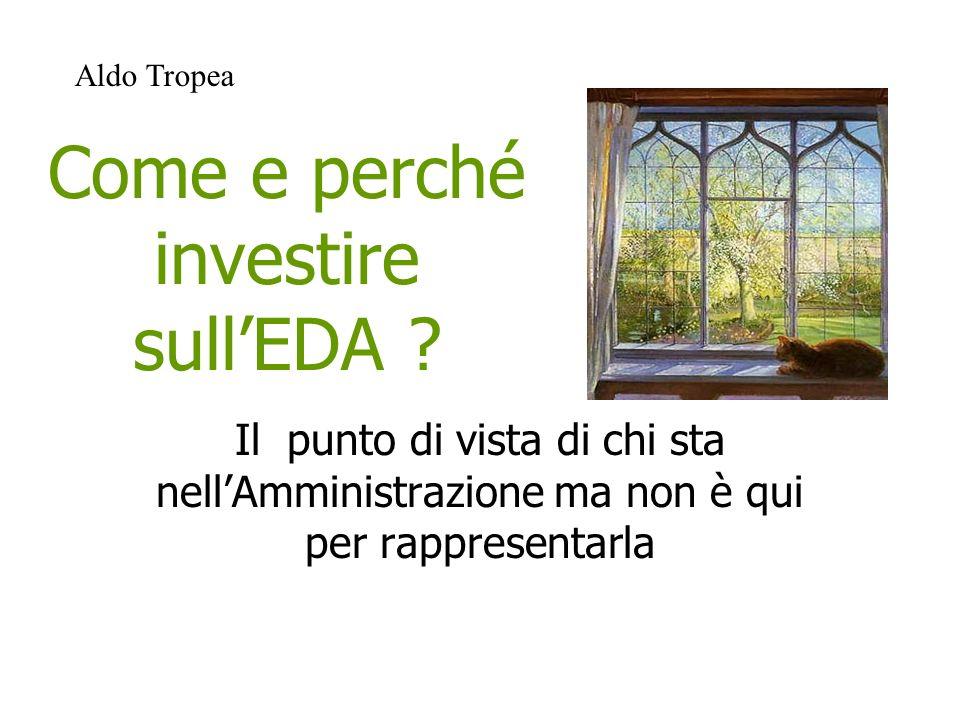 La situazione dellEDA in Italia è caratterizzata da una clamorosa contraddizione tra la crescita della domanda di formazione degli adulti, gli annunci di aggiornamento….