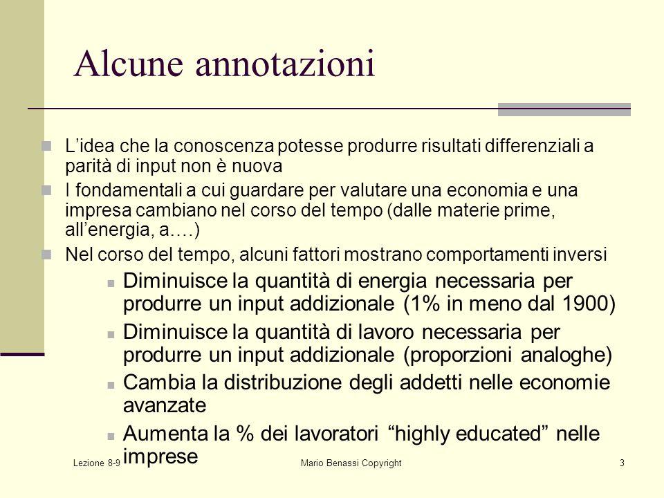 Lezione 8-9 Mario Benassi Copyright24 Human capital Si può intervenire dal punto di vista manageriale sulle comunità di pratica.