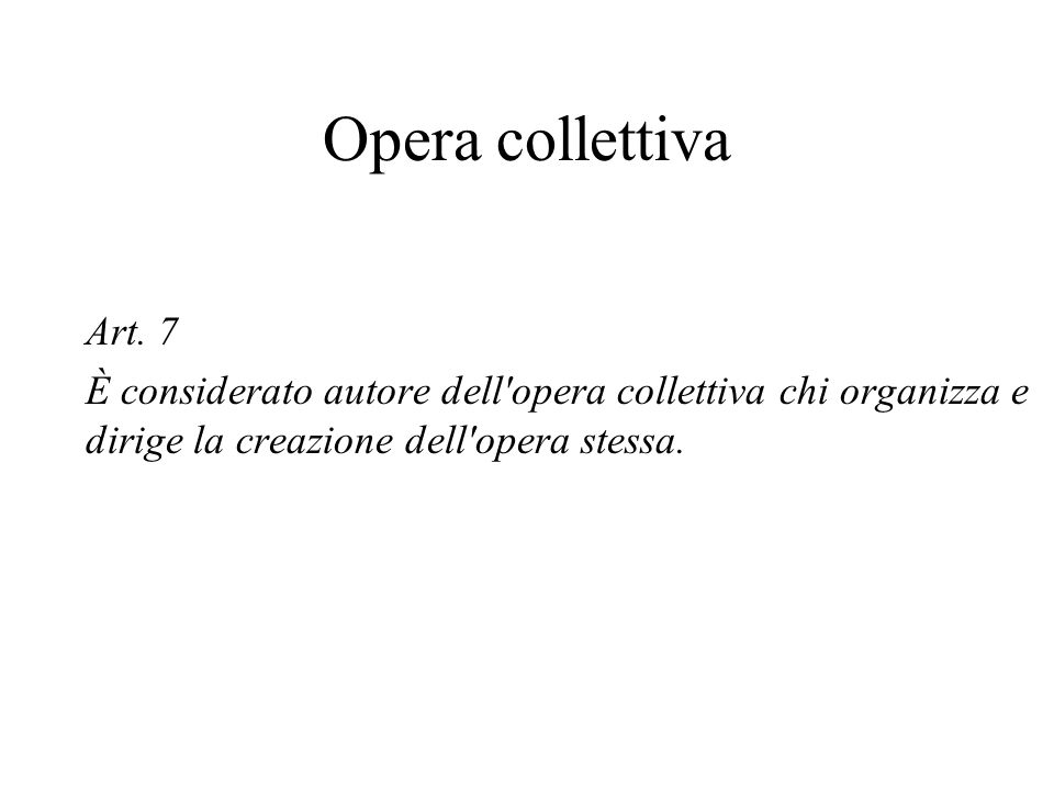 Opera collettiva Art.