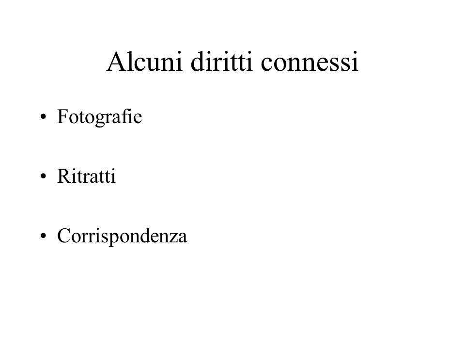 Alcuni diritti connessi Fotografie Ritratti Corrispondenza