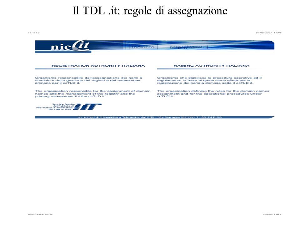 Il TDL.it: regole di assegnazione