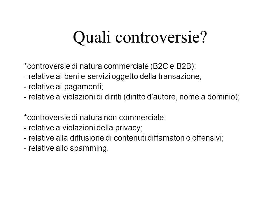 Quali controversie.