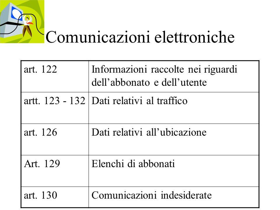Comunicazioni elettroniche art.