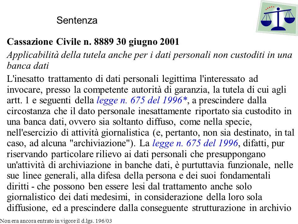 Cassazione Civile n.