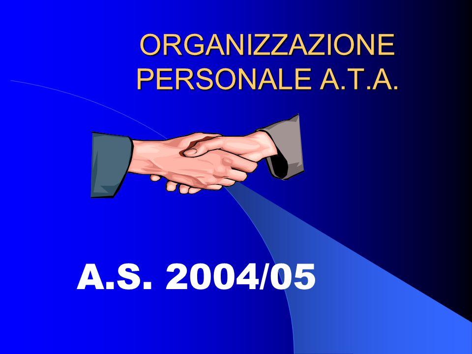 ORGANIZZAZIONE PERSONALE A.T.A. A.S. 2004/05