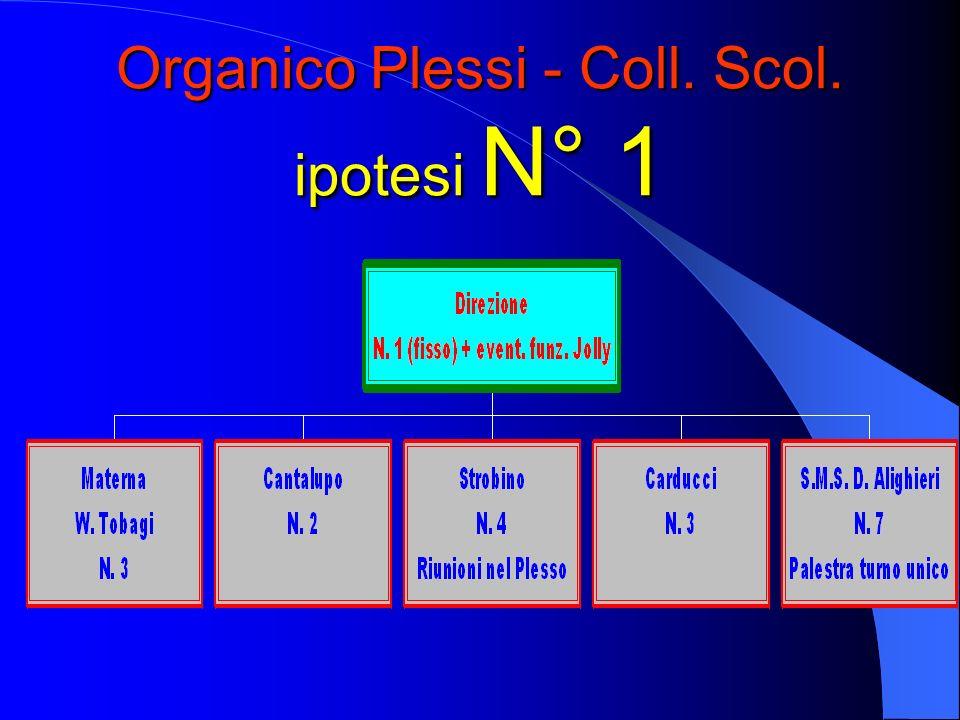 Organico Plessi - Coll. Scol. ipotesi N° 1