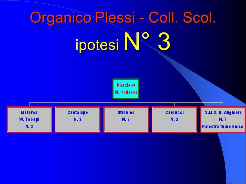 Organico Plessi - Coll. Scol. ipotesi N° 3