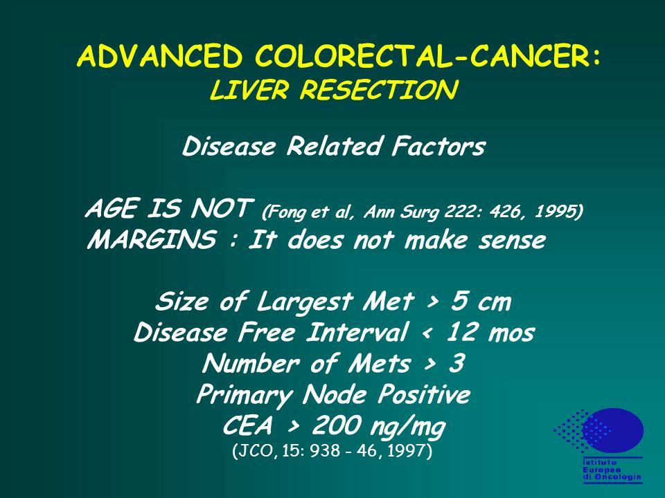 Metastasi epatiche nel carcinoma del colon retto 1.Malattia solo epatica operata Cosa fare dopo resezione.
