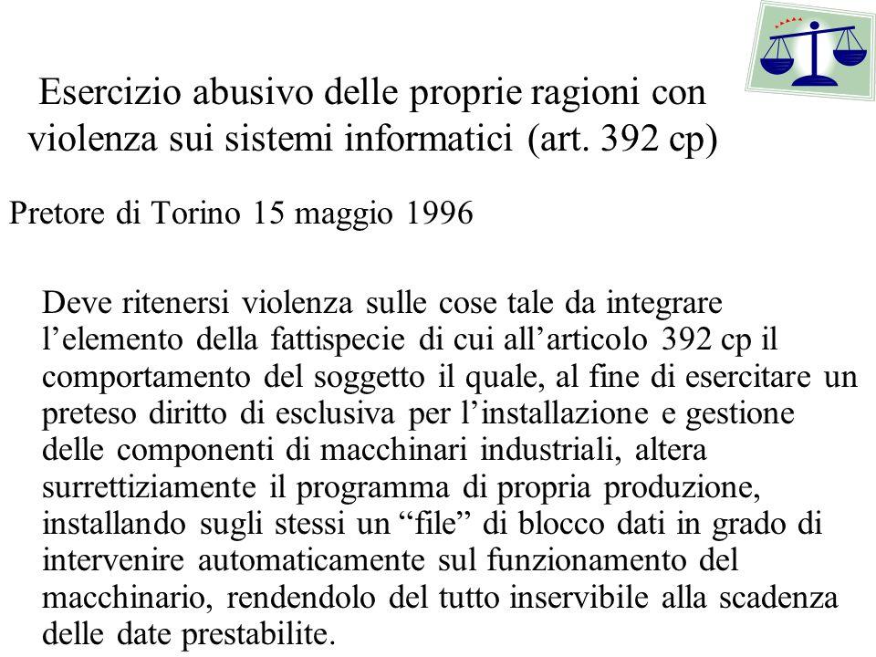 Duplicazione abusiva di software Sentenze - il concetto di duplicazione Cassazione penale n.