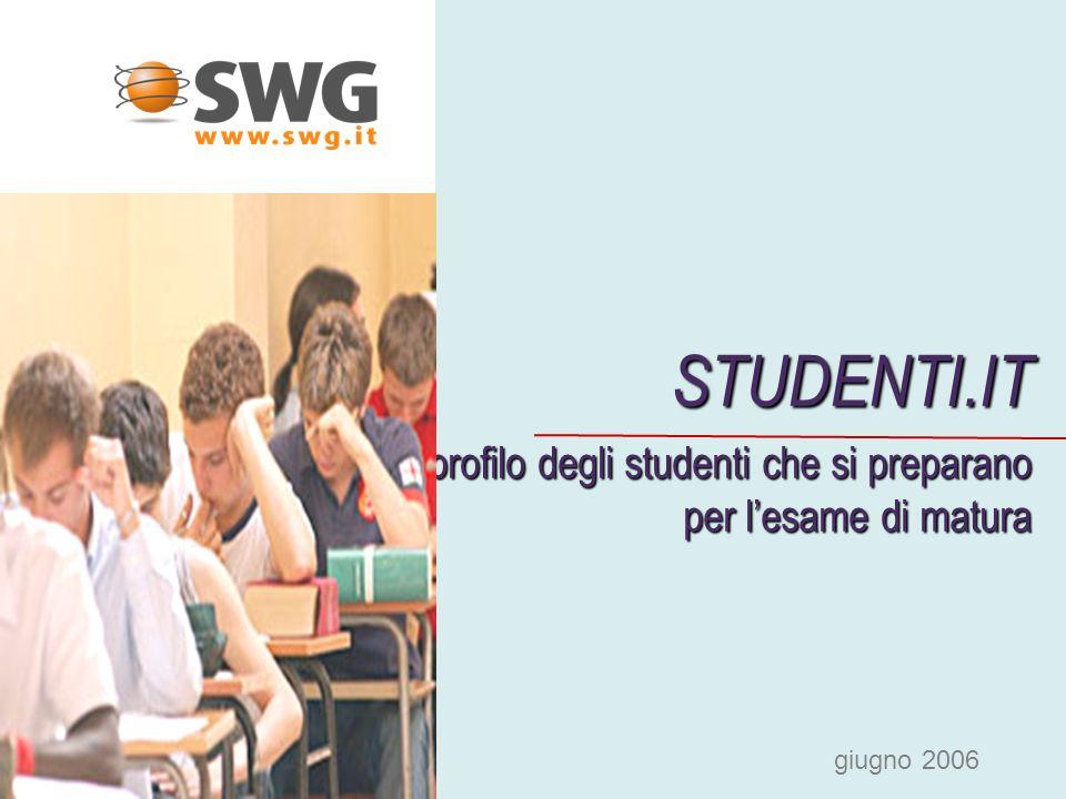 STUDENTI.IT profilo degli studenti che si preparano per lesame di matura profilo degli studenti che si preparano per lesame di matura giugno 2006