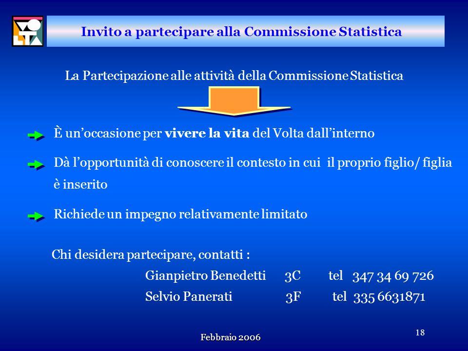 Febbraio 2006 17 n n Tavola riassuntiva delle insufficienze per classi-materie sul totale studenti PRIMESECONDETERZEQUARTEQUINTE T.STU. CL. % T.STU. C