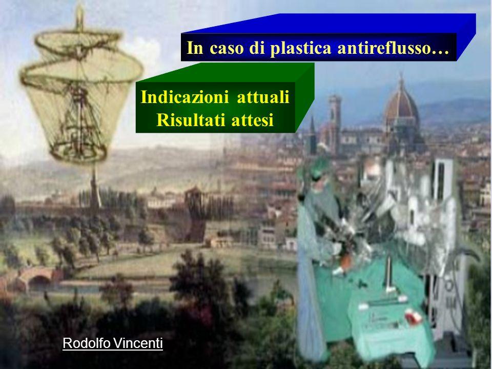 In caso di plastica antireflusso… Indicazioni attuali Risultati attesi Rodolfo Vincenti