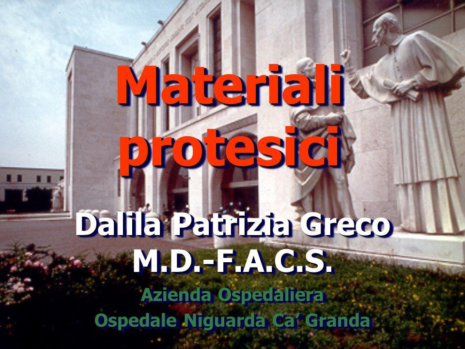 Materiali protesici Dalila Patrizia Greco M.D.-F.A.C.S.