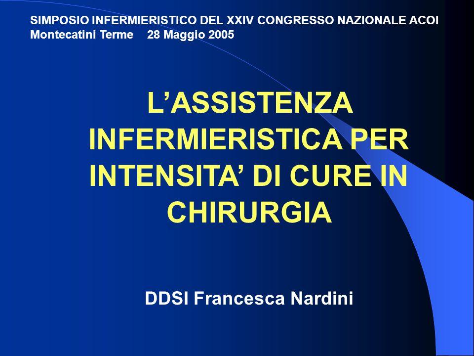 1.LOspedale per intensità di cure 2.LAttività chirurgica per intensità di cure 3.