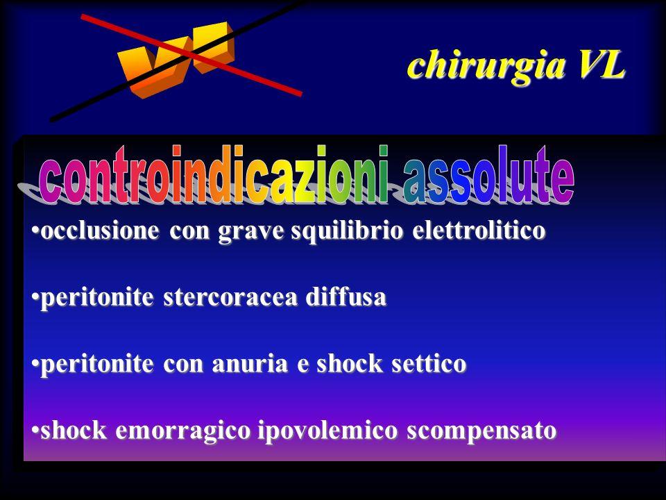 chirurgia VL occlusione con grave squilibrio elettroliticoocclusione con grave squilibrio elettrolitico peritonite stercoracea diffusaperitonite sterc