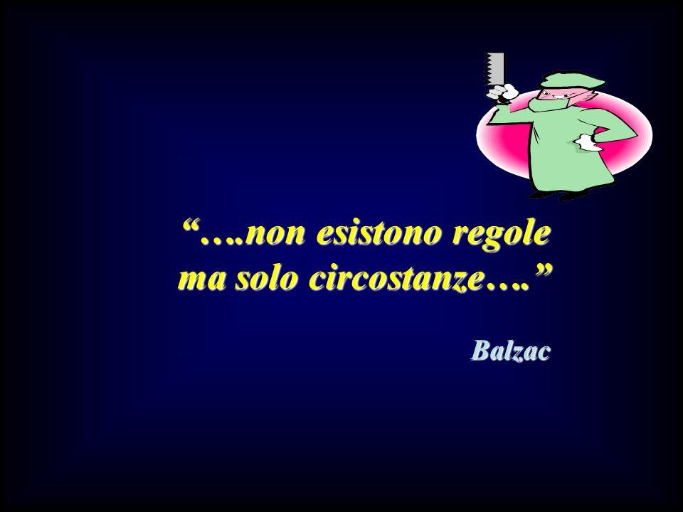 ….non esistono regole ma solo circostanze…. Balzac