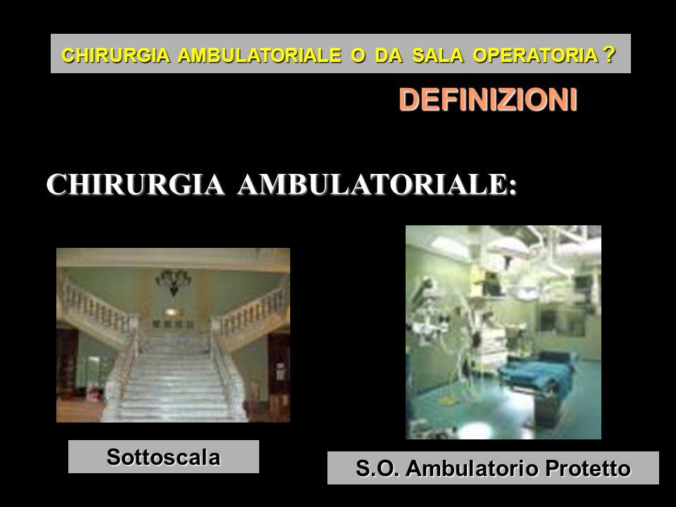 DEFINIZIONI CHIRURGIA AMBULATORIALE: