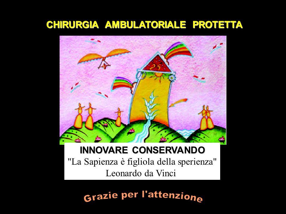 CHIRURGIA AMBULATORIALE PROTETTA INNOVARE CONSERVANDO