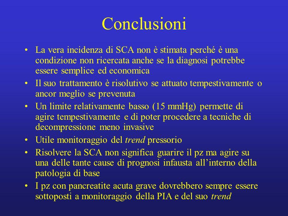 Conclusioni La vera incidenza di SCA non è stimata perché è una condizione non ricercata anche se la diagnosi potrebbe essere semplice ed economica Il